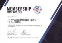 IWCF Membership Certificate